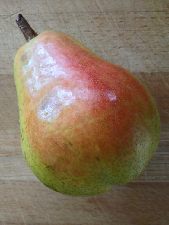 Pear with red cheeks