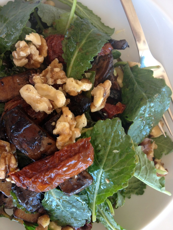 Baby Kale Salad with Portobello