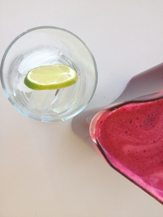 Midmorning beet juice