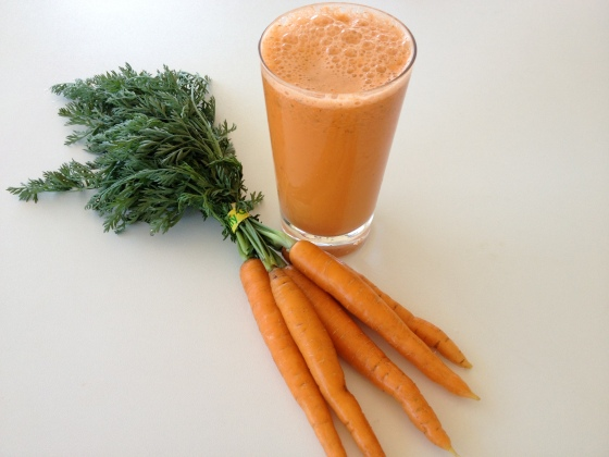 Freshly squeezed carrots