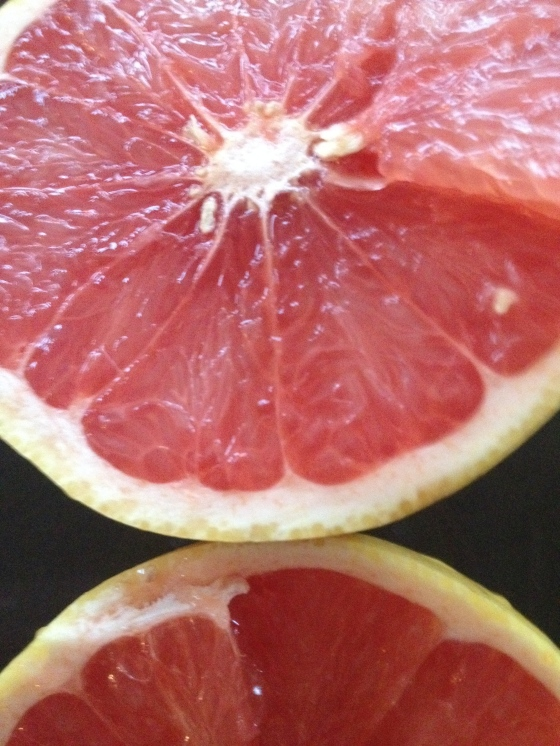 A couple of grapefruits