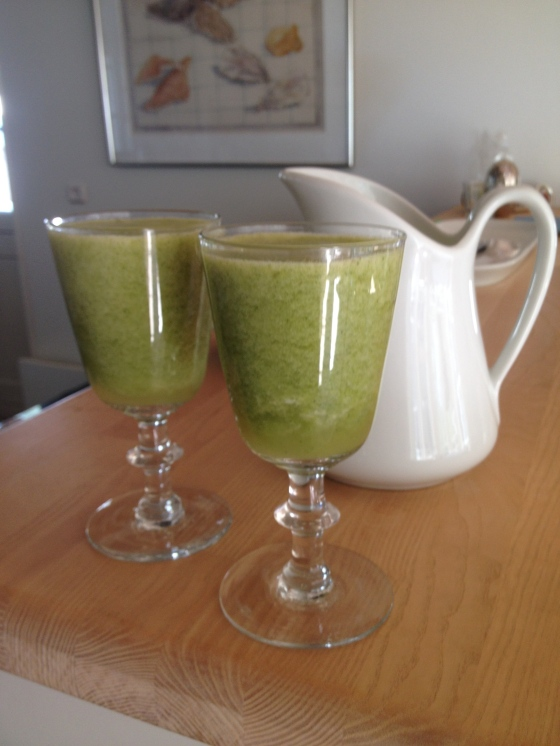 Green smoothie with stinging nettles