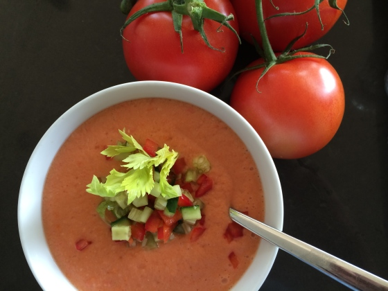 Cool and delicious Gazpacho